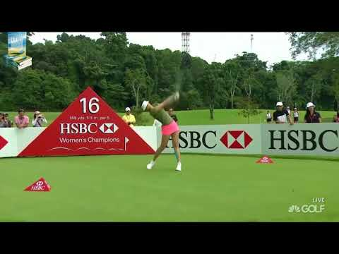 IN A WORD   WILD!  14 Golf Shot Fails 2017 HSBC Womens Champions LPGA Tournament