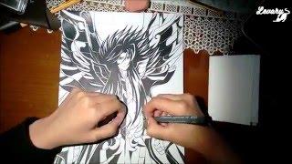 Speed Drawing   Saint Seiya - Hades Armadura divina