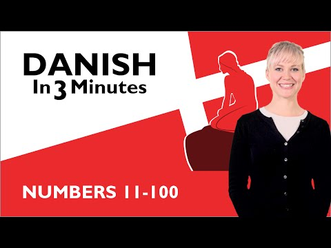 Learn Danish  Numbers 11100