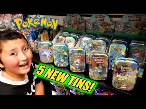 ALL 5 NEW POKEMON MINI TINS! GALAR PALS COLLECTION UNBOXING. New Pokemon Cards Opening!