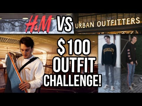 $100 OUTFIT CHALLENGE | URBAN OUTFITTERS VS H&M