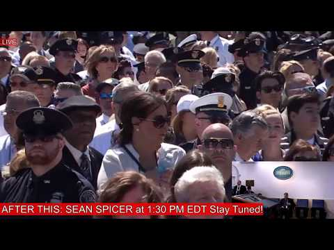 Thumbnail: National Peace Officers / Sean Spicer Press Briefing, Press Conference, Donald Trump 5/15/17
