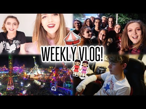 VLOG: Filming with Sophie, A Broken Wrist & Going to HULL FAIR!!