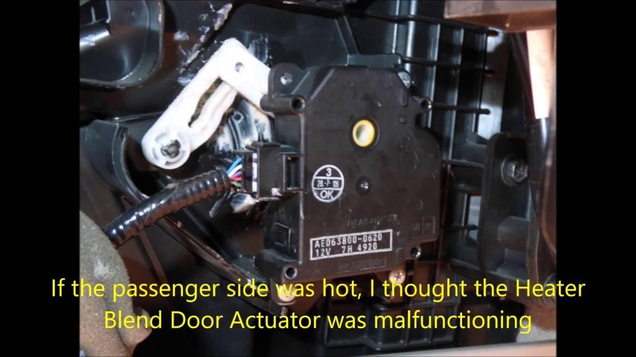 medium resolution of 2007 lexus rx350 how to fix bad heater blend door actuator