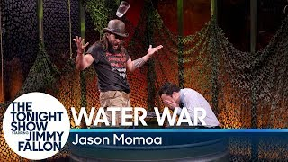 Jimmy and Jason Momoa face off in a twist on the card game War, where the loser of each hand faces wet consequences. Subscribe NOW to The Tonight Show ...