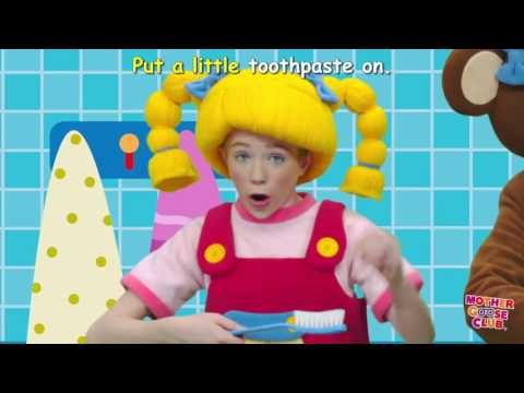 Brush Your Teeth - DIY Clean White Teeth - Mother Goose Club - Songs for Children
