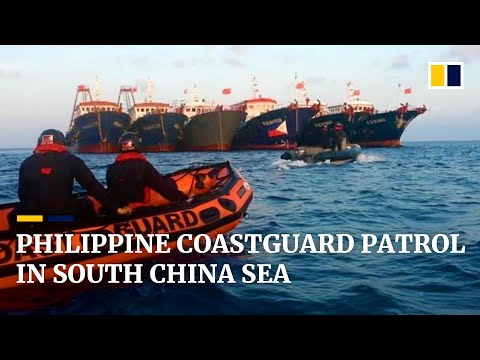 Philippine coastguard sends strong warning to Chinese vessels during South China Sea patrol