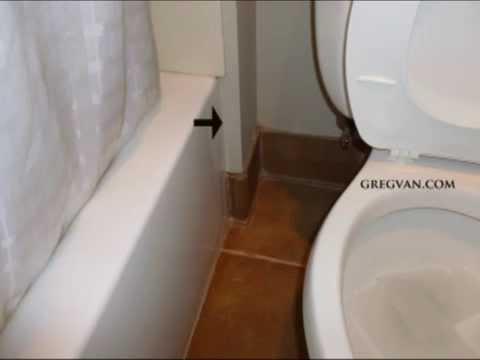 Front of Bathtub Side Wall Damage - Bathroom Remodeling Tip - YouTube