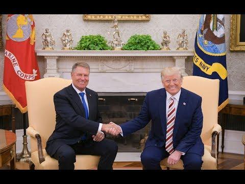 Primirea președintelui Klaus Iohannis la Casa Albă de președintele Donald Trump