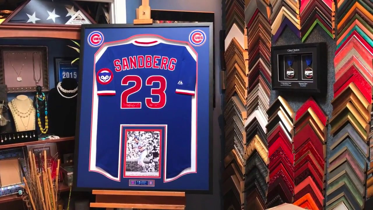 Framing a Signed Chicago Cubs Baseball Jersey - YouTube