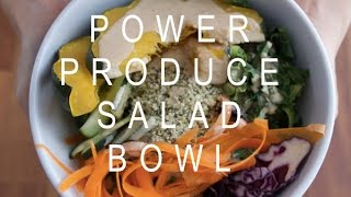 Kale Salad Bowl With Tahini Dressing