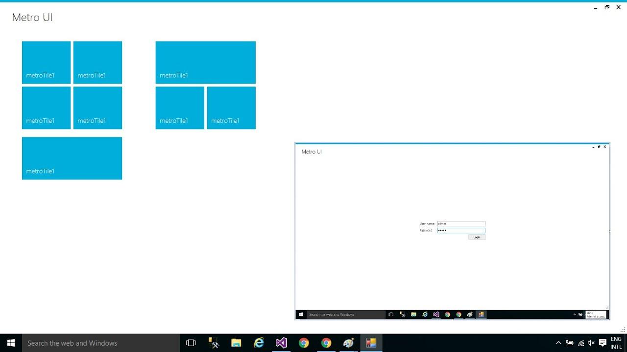 Gmail metro theme - C Tutorial Modern Ui Metro Framework Windows 8 Ui Foxlearn
