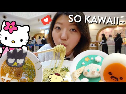 CUTEST HELLO KITTY FOODS at Sanrio Puroland in Tokyo, Japan!