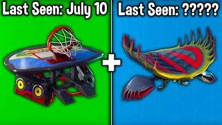 5 GLIDERS BECOMING RARE in Fortnite Battle Royale! (do you have any of these gliders?)