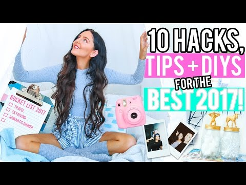 10 Ways To Have the BEST 2017!  Room Decor for Organization, Life Hacks + More!