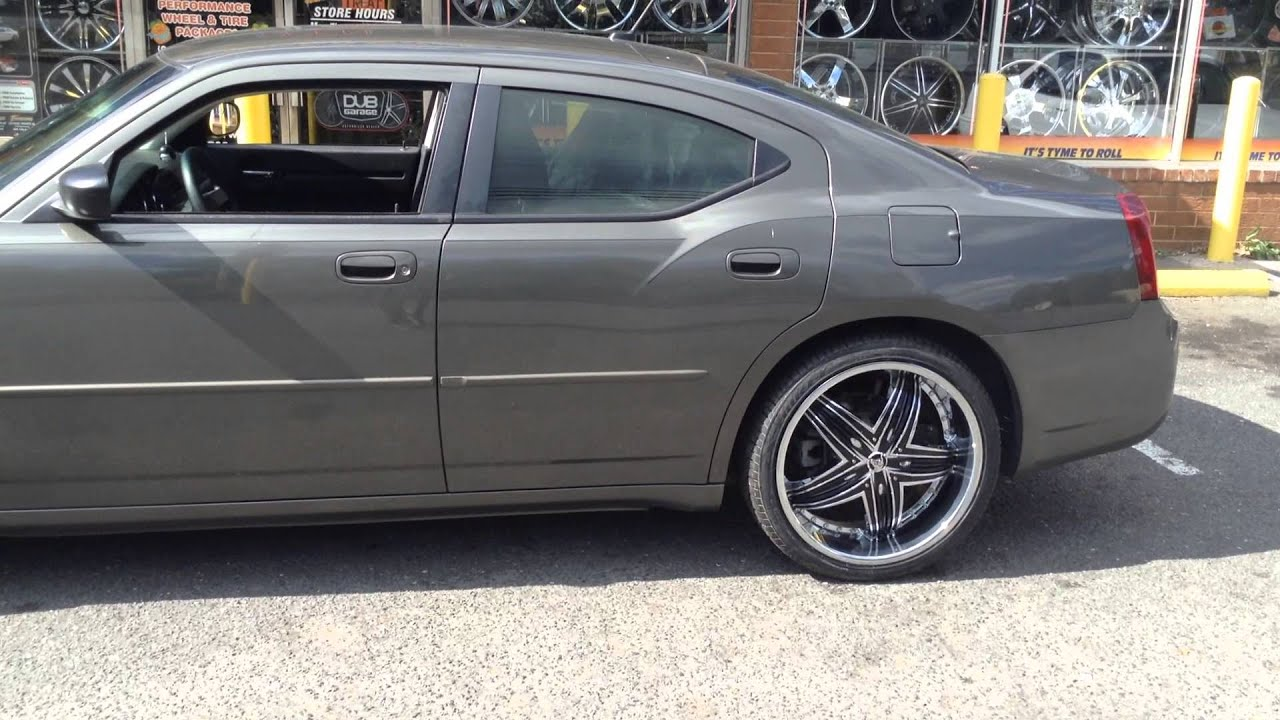 """22"""" Diablo Rage Wheels on a Dodge Charger rolling out of Rimtyme of Charlotte - YouTube"""