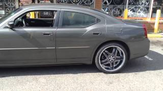 "22"" Diablo Rage Wheels on a Dodge Charger rolling out of Rimtyme of Charlotte Thumbnail"