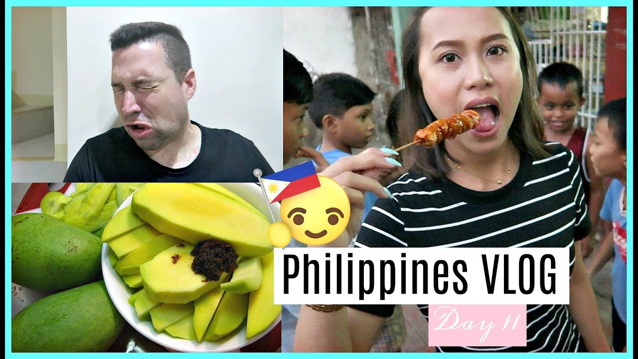 PHILIPPINES VLOG DAY 11   AUSTRALIAN TRIES MANGGA W ...