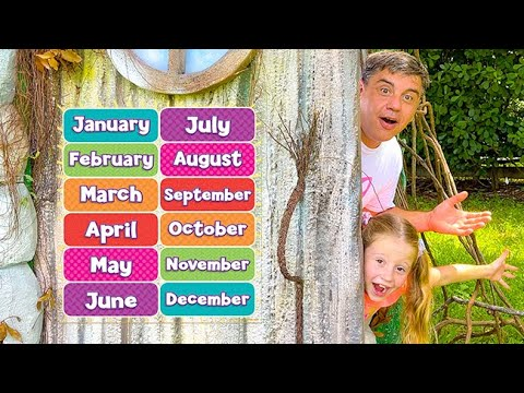 Nastya learns about all the months of the year