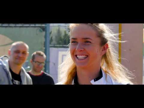 EMPIRE Tennis Academy: Elina Svitolina and kids in Trnava, Slovakia