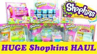 HUGE Shopkins Haul 40 Blind Baskets and 5 Shopkins Playset ToyGenie
