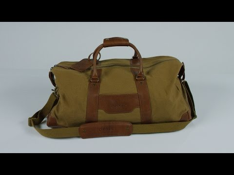 d32a11b76 ORVIS -1856 Medium Canvas and Leather Duffle Bag - YouTube
