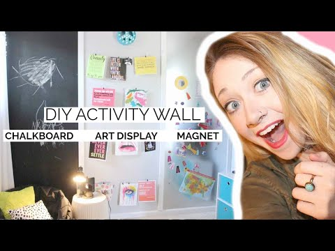 DIY ACTIVITY WALL : Chalkboard, Magnet Board, Artwork Display