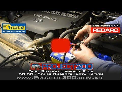 Dual battery system & DC-DC charger install - LandCruiser 200 - Redarc BCDC1225D
