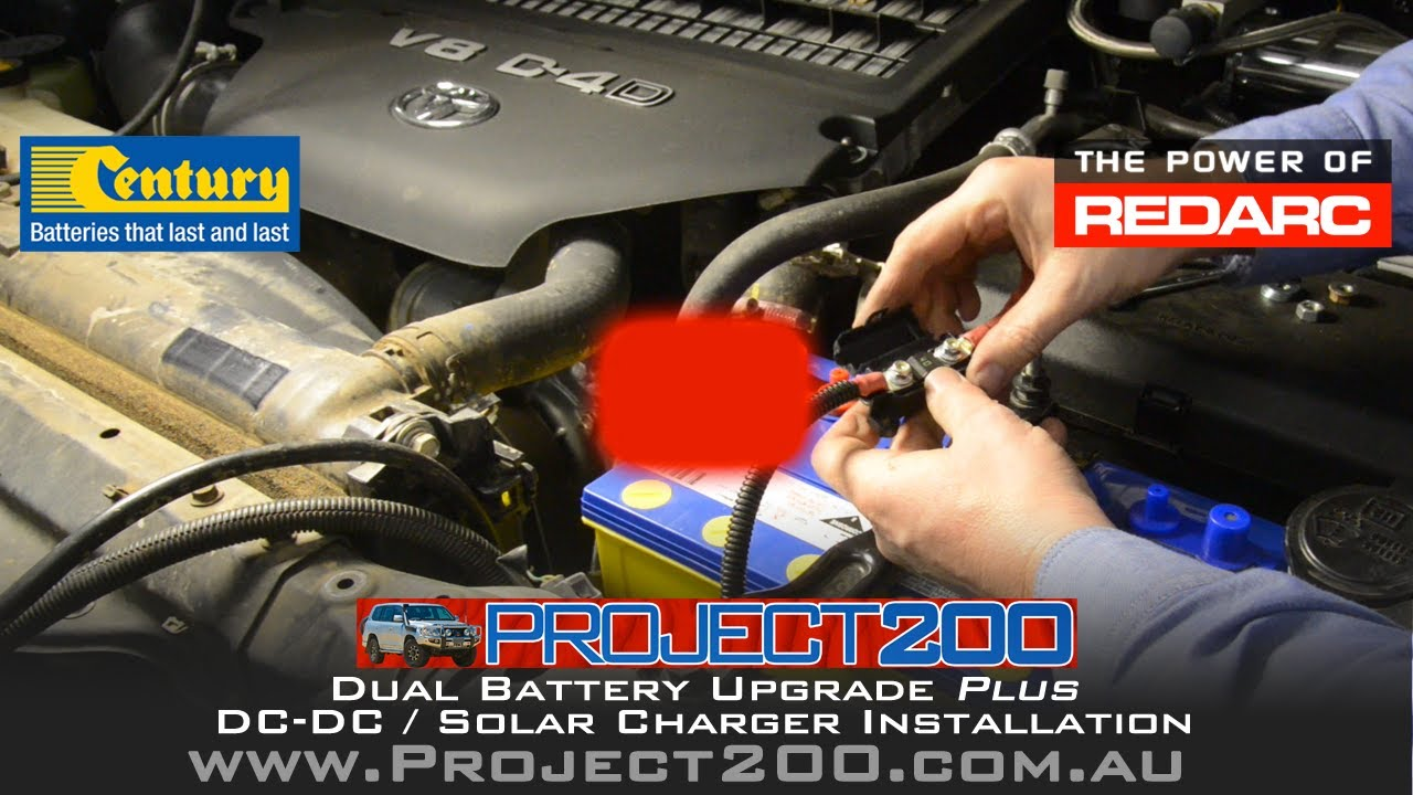 Dual battery system & DCDC charger install  LandCruiser 200  Redarc BCDC1225D  YouTube