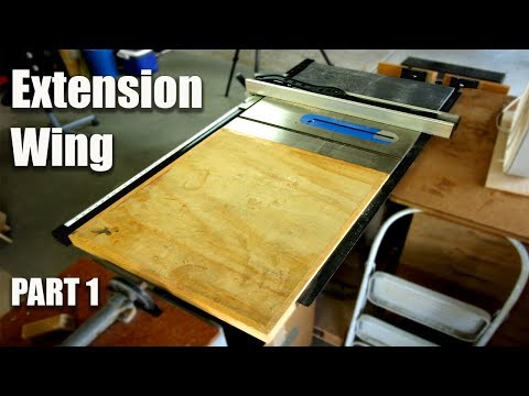 Table saw extension plans