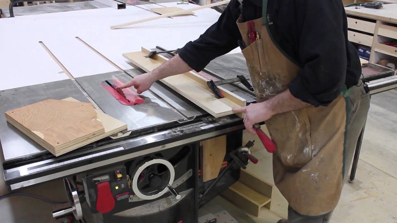 Pattern Cutting With Your Sawstop Table Saw Youtube