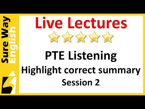 [Must Watch Today] PTE Listening Highlight Correct Summary Practice Questions Set 2