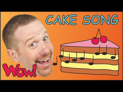 Cake Song for Kids | Learn English speaking with Steve and Maggie | Food Song esl