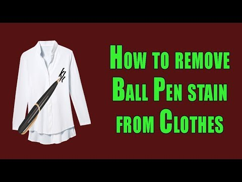 how to remove ball pen ink from clothes