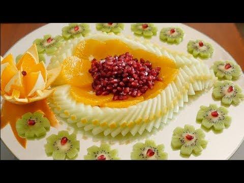 How to make a Sliced Fruit Platter | Fruit Carving design