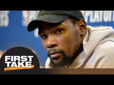 Stephen A. and Max debate what Kevin Durant's ankle injury means for Warriors | First Take | ESPN