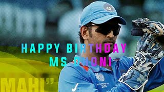 HAPPY BIRTHDAY M.S DHONI||captain cool||Aswin Madappally about DHONI