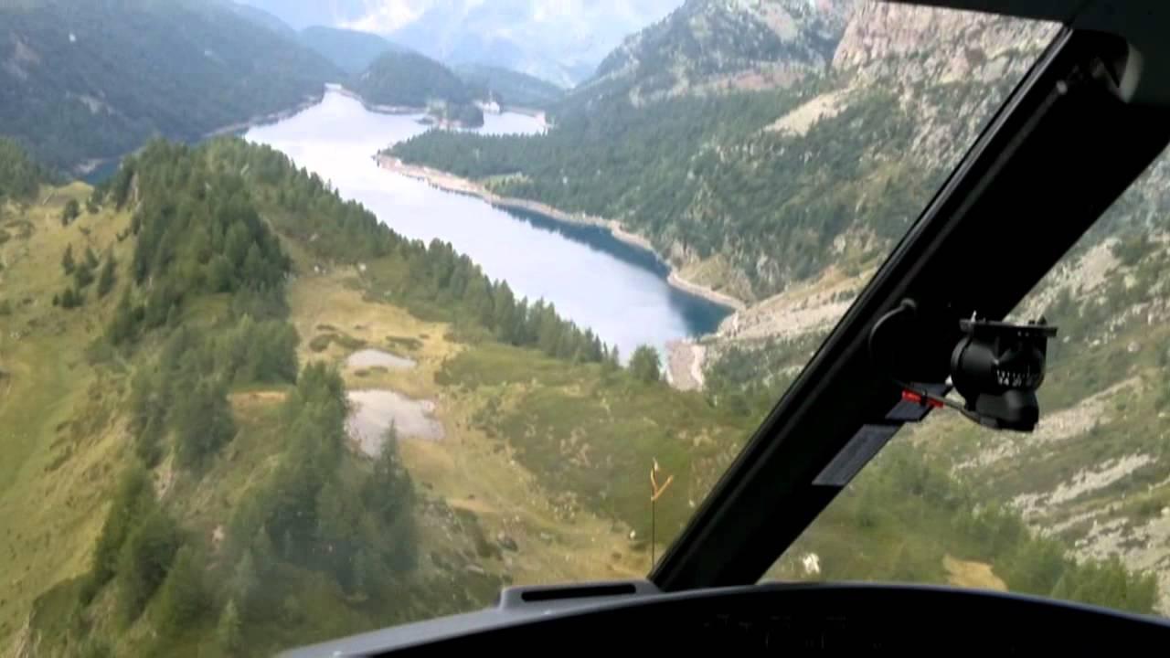 Elicottero B3 : Recupero mucca con elicottero as b youtube