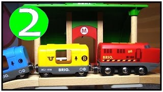 Brio & Plan Quality Toy Construction Trucks & Railway Trains! Learn Numbers (2) Learn To Count