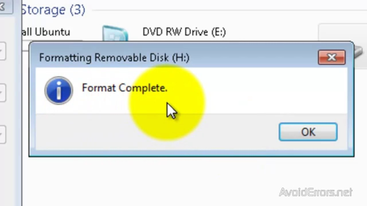 Fix The File is Too Large For The Destination File System - YouTube