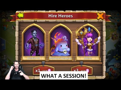 35000 Free 2 Play GODLIKE Session Spend Gems & Win Castle Clash