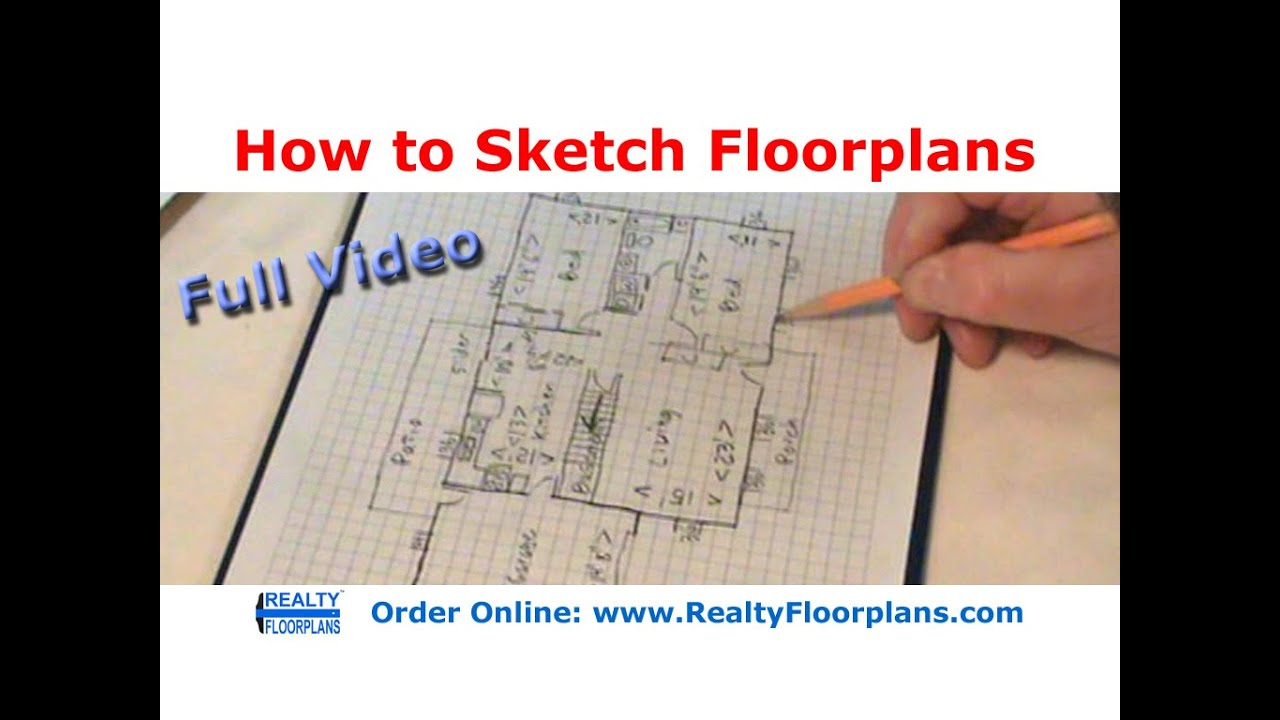 Realty Floorplans: How To Rough Sketch A Floor Plan (Full