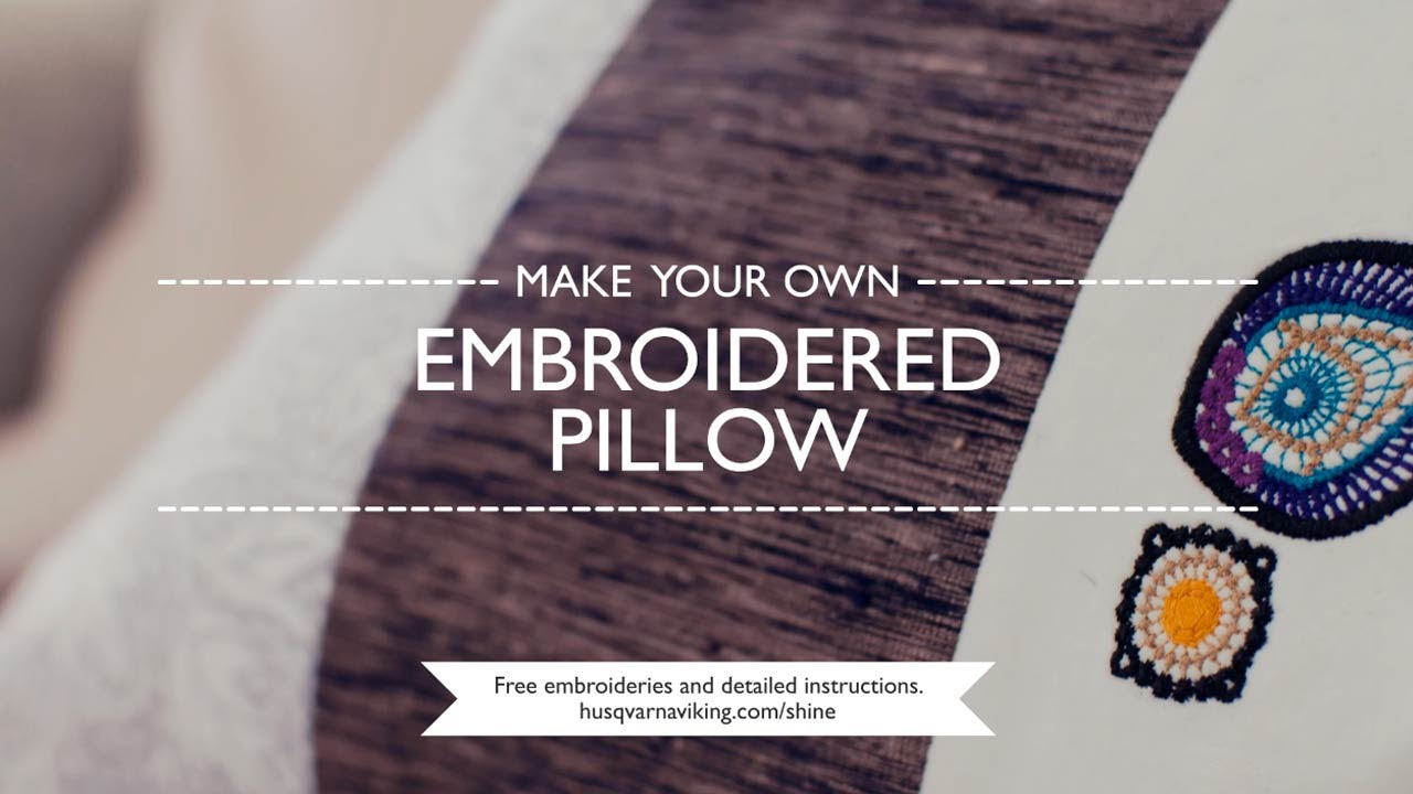 Diy embroidered pillow youtube