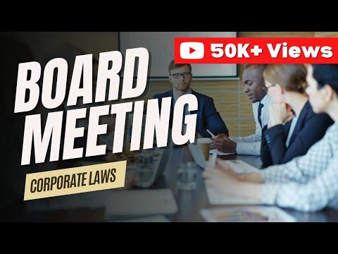 Board Meetings by CA Jaishree Soni | Corporate Laws | Company Law