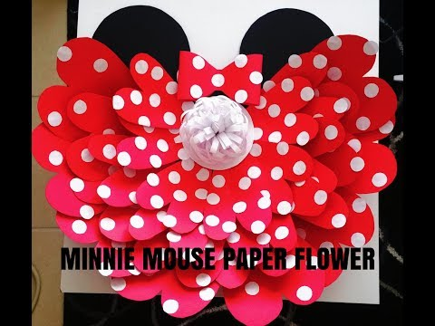 DIY Giant Minnie Mouse Paper Flower| Paper Flower Crush