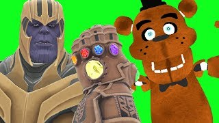 Can Thanos' NEW INFINITY GAUNTLET Kill ANIMATRONICS from Five Nights At Freddy's in Gmod? 2