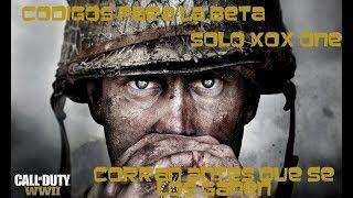 WORLD WAR 2 CODIGOS DE BETA XBOX ONE CORREEEE ANTES DE QUE TE GANEN O SE ACABE LA BETA xD