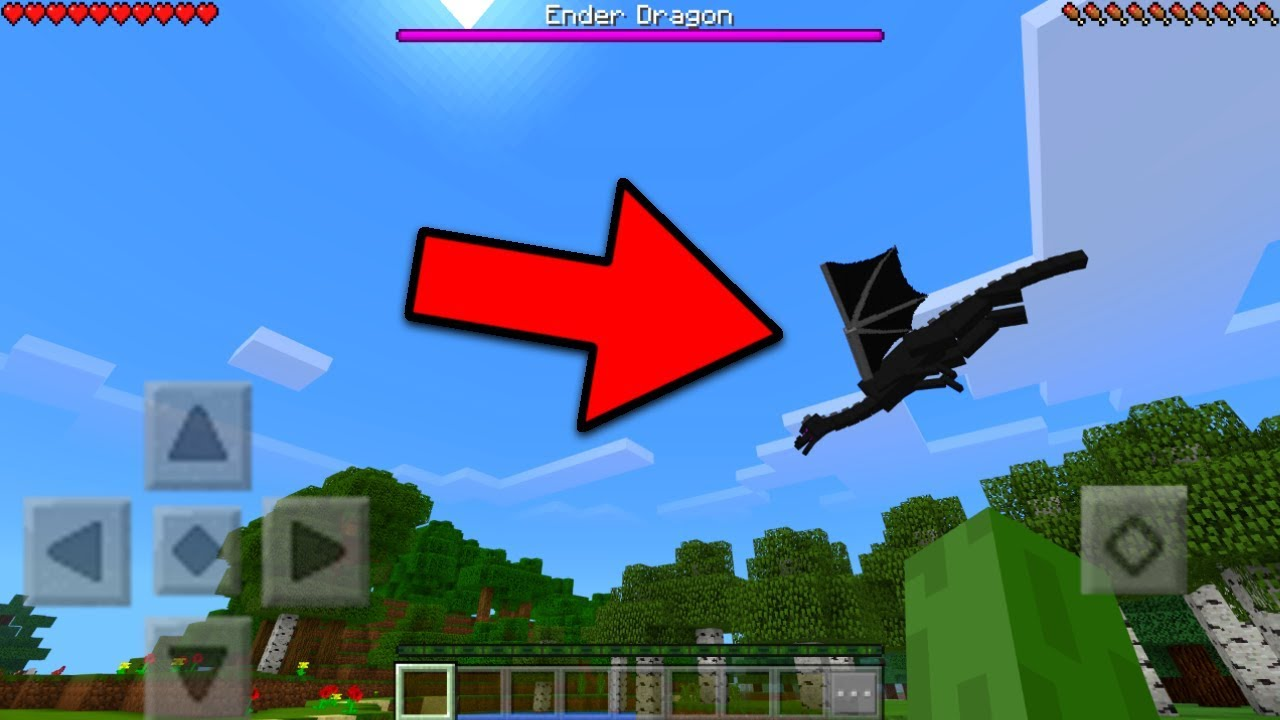 how to defeat the ender dragon in minecraft pocket edition