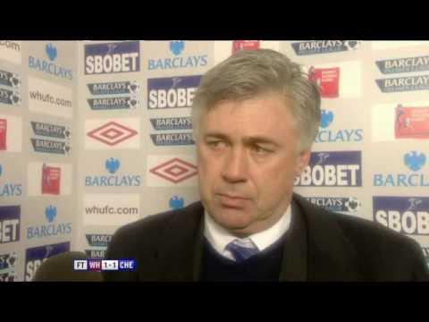 West Ham 1-1 Chelsea -Carlo Ancelotti (20.12.09)