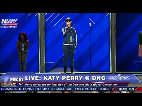 WATCH: Katy Perry DNC Performance Rehearsal before 2016 Democratic National Convention - FNN